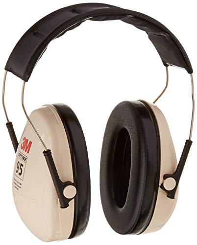 3M Peltor H6A\V Optime 95 Over the Head Noise Reduction Earmuff, Hearing Protection, Ear Protectors, NRR 21dB, Ideal for machine shops and power tools (Renewed)