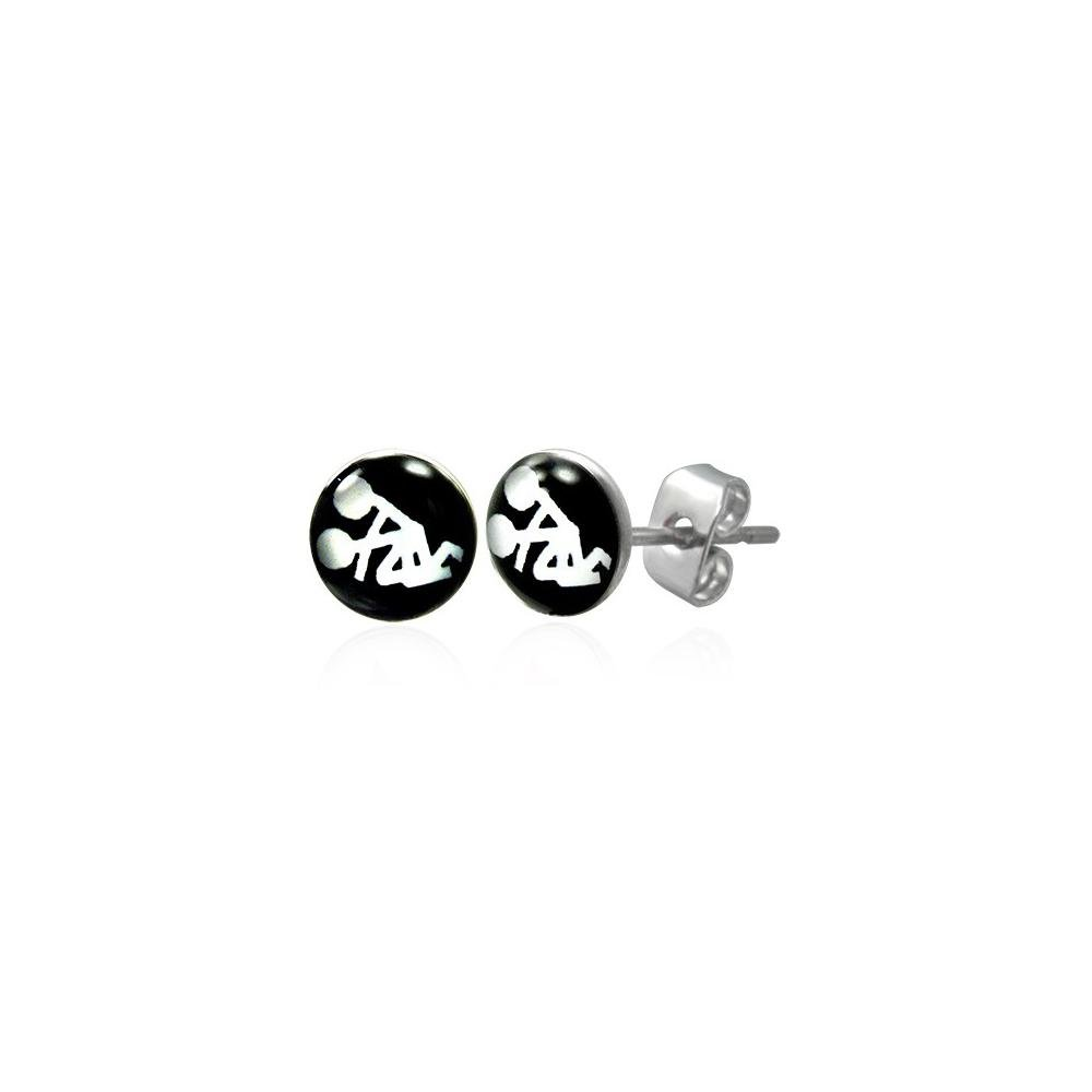Porn star logo stainless steel stud earrings amazon co uk jewellery