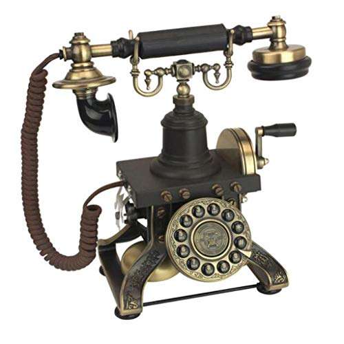 1892 European Antique Telephone - Vintage Hand Crank Republic Nostalgia Home Button Dialing Retro Landline from Telephone landline