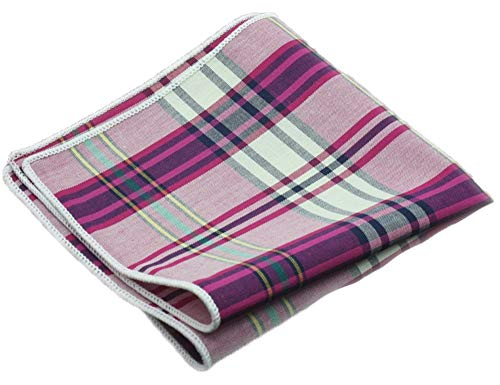 Purple Tweed - Flairs New York Flannel and Tweed Collection Pocket Square (Plum Purple Multi)