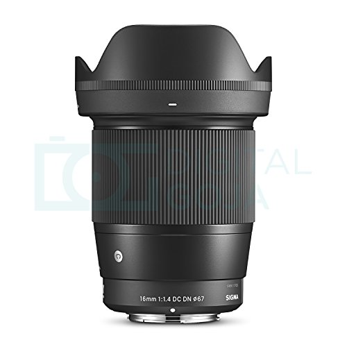 Sigma 16mm F1.4 DC DN Contemporary Lens for Sony E Mount Cameras w/Advanced Photo and Travel Bundle
