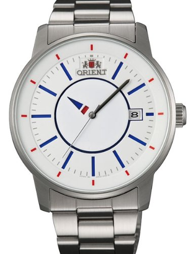 Orient 21-Jewel Automatic Disk Watch with Unique Rotating Hour Hand ER0200FD
