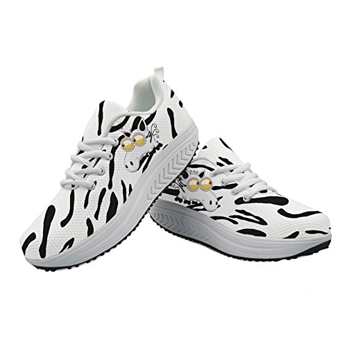 Cartoon Animal Printed Wedges Platform 3 Girls Funny Shoes Animal Lightweight Sneaker Casual fpwpqdA