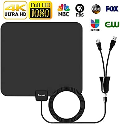 Antena Digital 2018 con Rango de 75 Mile amplificada de Antena de TV Local de 4 K/HD/VHF/UHF Canales de señal de TV para Smart Television.: Amazon.es: Juguetes y juegos