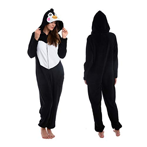 - Body Candy Women's Animal Hooded Plush Critters, Penguin, Large