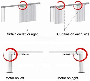 DIY Smart Electric Curtain Tracks 123″ – Remote Control Motorized Curtain Rails, Smart Home Automation System Easy to Control by Mobile apps/Remote/Timer, Alexa Smart Curtain Track (85″ to 123″) 414Qud2yaCL