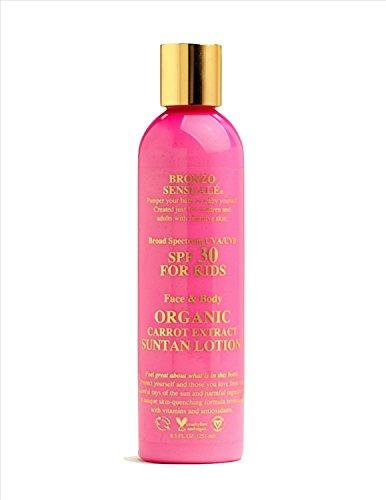 bronzo-sensualer-spf-30-uva-uvb-sunscreen-for-kids-organic-carrot-lotion-para-ninos-crema-hidratante