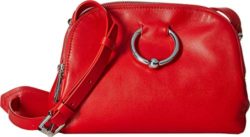 Rebecca Minkoff Women's Kate Double Zip Crossbody Bag, Tomato, Red, One Size (Crossbody Bags Non Leather)