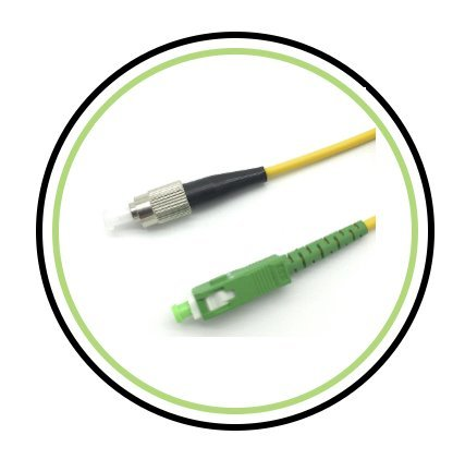 FC to SC/APC Fiber Optic Patch Cable - 1M / 3.28ft - Single Mode - SIMPLEX - Commercial QUALITY