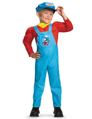Thomas The Tank Halloween (Thomas The Tank Engine Classic Muscle Costume - Small (2T))