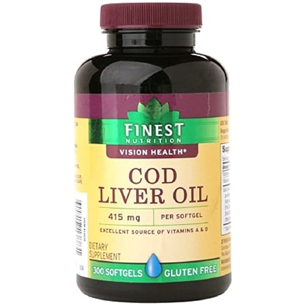 Amazon Com Finest Nutrition Cod Liver Oil Softgels 300 Ea Health Personal Care