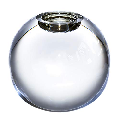 Le Sens Amazing Home Large Crystal Ball Candle Holder, 4.2 inches Height, 4.7 inches Width Prepackaged Elegant Heavy Solid Tealight Holder Centerpiece for Home Decoration, Wedding and ()