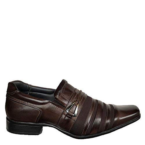 Shop Brunello's Comfort Business Dress Shoe in Dark Brown- Las Vegas Collection Made in Brazil 79277-02