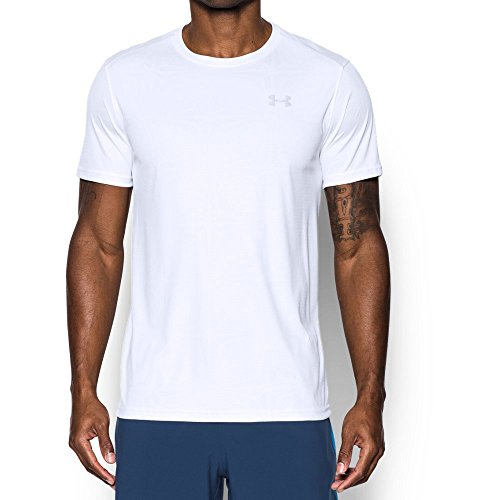 Under Armour Men's CoolSwitch Run Short Sleeve, White /Reflective, Medium