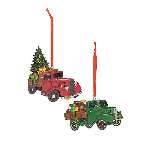 Vintage Truck Ornaments, Country Christmas Ornaments, Set of 12