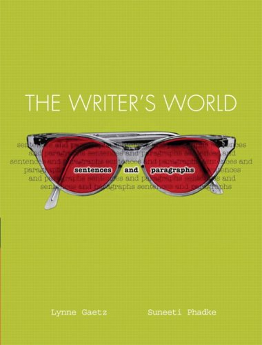 Writer's World: Sentences and Paragraphs Value Pack (includes Writer's World: Paragraph Patterns and the Essay & MyW