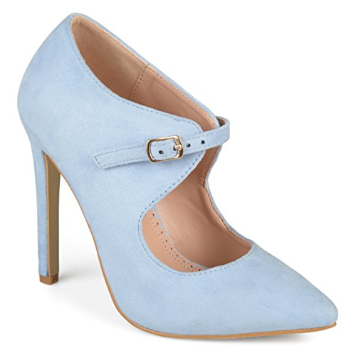 Journee Collection Mujeres Cut-out Tacones Puntiagudos Azul