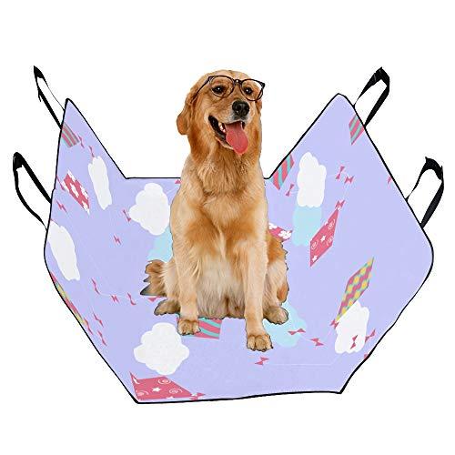 - JTMOVING Fashion Oxford Pet Car Seat Flying Kite Hand Drawn Cartoon Waterproof Nonslip Canine Pet Dog Bed Hammock Convertible for Cars Trucks SUV