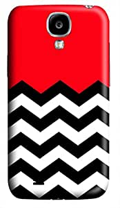 VUTTOO Red Chevron Hard Case For Samsung Galaxy S4 i9500