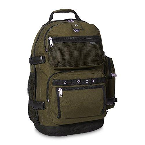 Everest Oversize Deluxe Backpack, (Pack Black Olive)