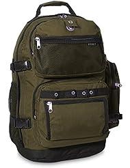 Everest Oversize Deluxe Backpack, Olive/Black