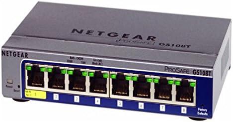 8 x RJ-45-10//100//1000Base-T NETGEAR ProSafe GS108Tv2 Gigabit Smart Switch Manageable 8 Ports 135533