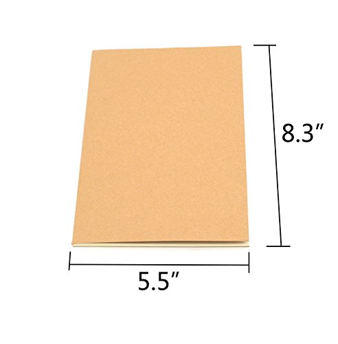 Tueascallk Travel Journal, Kraft Brown Soft Cover Notebook, A5 Specifications(5.5'' x 8.3''), College Ruled Paper,Row Spacing 0.3'', 60 Pages/30 Sheets, 6 Packs by Tueascallk (Image #2)