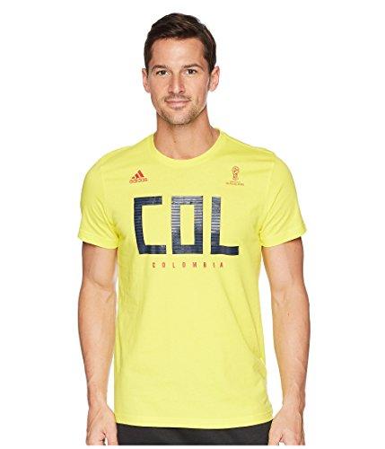 adidas Adult Men Soccer Tee, Yellow, -