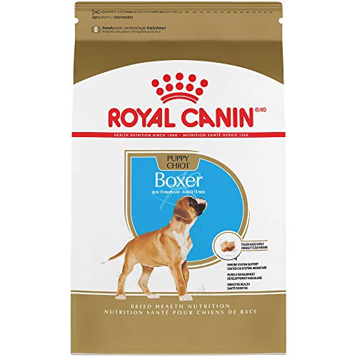 Boxer Breed Pure - Royal Canin Breed Health Nutrition Boxer Puppy Dry Dog Food, 30-Pound