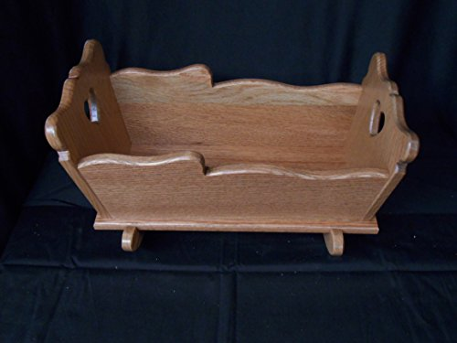 Sm Doll Cradle Solid Oak Furniture House Amish Kids Toy Provincial Stain
