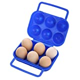 Egg Carriers with Handle, 6 Eggs Shockproof