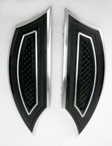 Thunder Cycle Designs Driver Floorboards - Black (Thunder Cycle Designs)