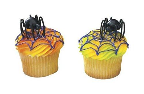 12 pcs Halloween Hunchback Spider Cake/Cupcake Topper]()