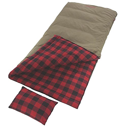 Coleman Big Game Big Tall Sleeping Bag -5 Degrees , Red Plaid