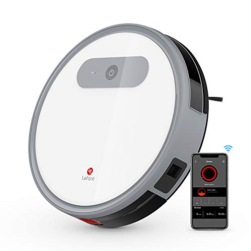 Robot Vacuum with App Controlled, Quite, Anti-winding, 1000Pa Max Suction with 3 Cleaning Mode,Route Planning Robotic Vacuum Cleaner, Smart Self-Charging, Clean Hard Floor and Carpets