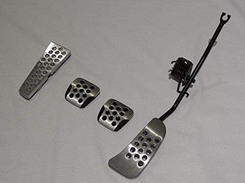 NISSAN (ニッサン) 日産純正 R34 スカイラインGT-R 後期 アルミ製 アクセルペダルASSY& ブレーキペダル&クラッチペダル& フットレスト 4点セット 流用可能 B076YTJGJH