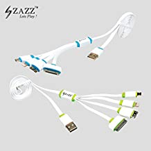 ZAZZ- 4in1 Multi-Function ONLY for Charging USB Cable COMBO Compatible Smart Phone Brands Apple,Samsung,Blackberry,Htc,Motorola,Sony,Xiaomi,Lenovo,huawei,iPhones,Android & Windows Phones & Tablets