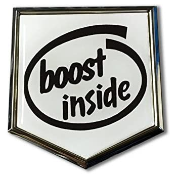 Boost Inside Domed CHROME Emblem Proud Flag Car 3D Sticker 2