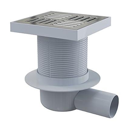 Suelo de desagüe 150 x 50 horizontal de acero inoxidable extra plana de ducha y de