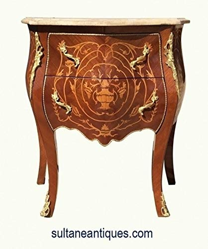 Louis XV Style Side Table Commode Marble Top - 6094-1743 ()