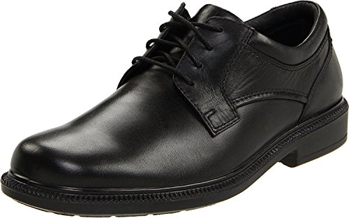 Hush Puppies Mens Strategy Oxford, Black Leather, 45.5 3E EU/10.5 3E UK