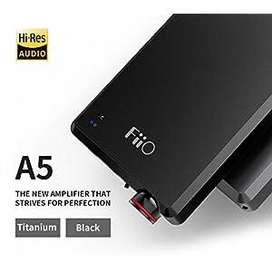 FiiO A5 Portable Headphone Amplifier, Black