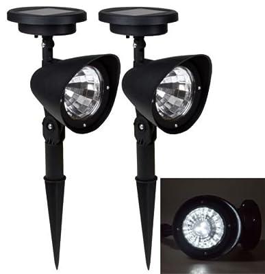 2x Solar Spot Light Outdoor Garden Lawn Landscape LED Spotlight Path Lamp 4-LED