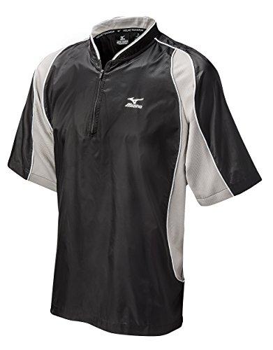 Mizuno Protect Batting Jersey, Black, - Jacket Batting Baseball