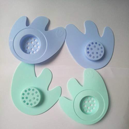 DDOQ Dauerhaft 1 stück Bodenablauf Abdeckung Waschbecken Sieb Haar Stopper Sink Filter mit Saugnapf Zufällige Farbe