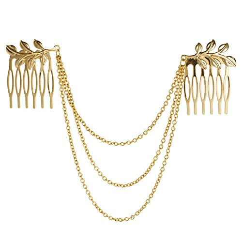 HuntGold Charming Tassels Leaves Hairpin