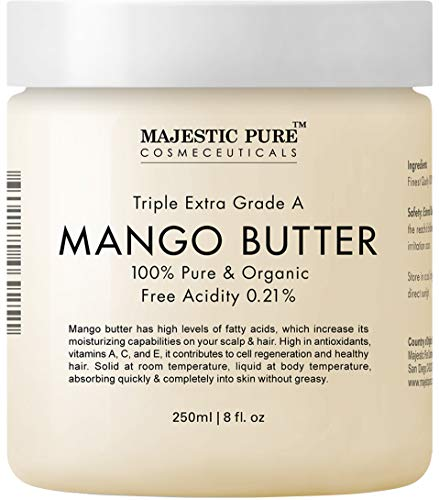 Butter Sunscreen Shea Natural (Majestic Pure Raw Mango Butter, 8 oz - Organic Premium Grade for Soft Supple Skin and Healthy Hair …)