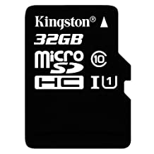 Kingston Digital 32GB microSDHC Class 10 UHS-I 45MB/s Read Card with SD Adapter (SDC10G2/32GB)- Tarjeta de memoria