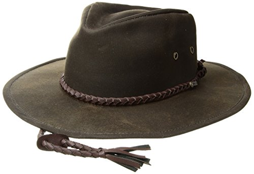 (Outback Trading Co Men's Co. Grizzly Oilskin Hat Black Medium)