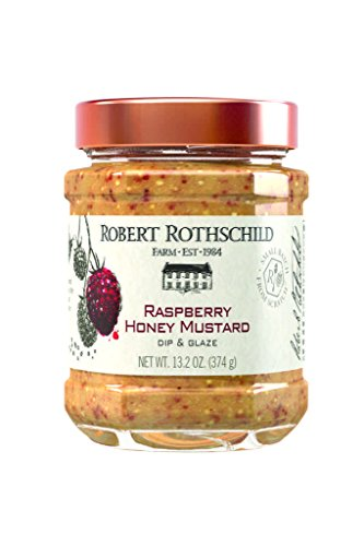 Robert Rothschild Farm Raspberry Honey Mustard Dip (13.2oz) - Dip & Glaze - Pair with Pretzels - Add to Chicken Salad and Sandwiches - Chicken and Roast Beef Glaze